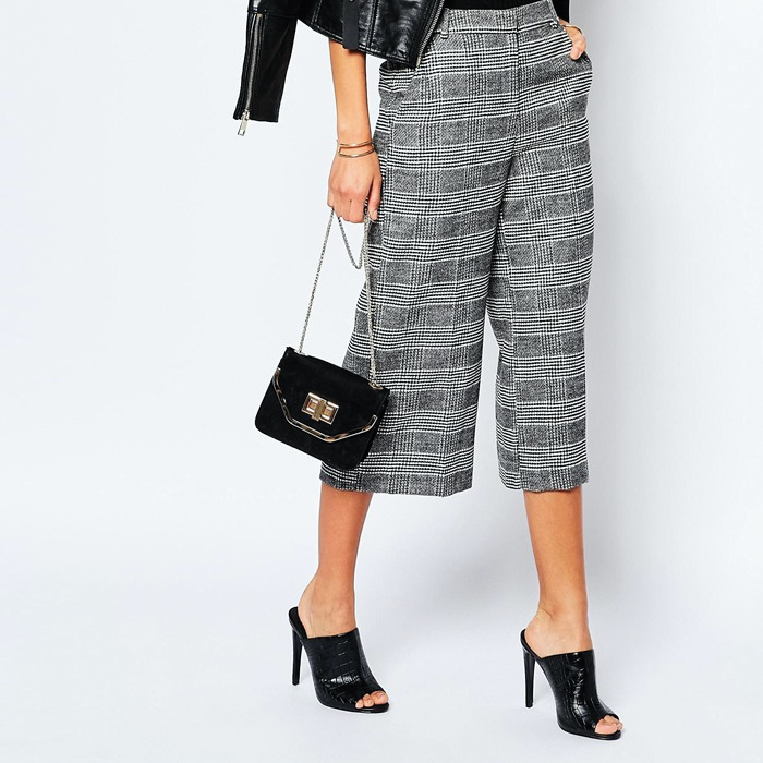Houndstooth culottes
