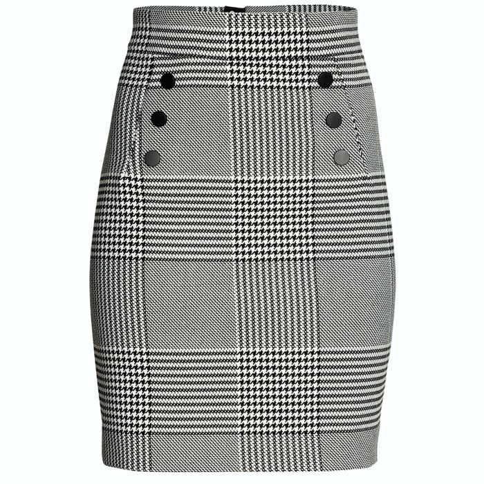 Houndstooth skirt H&M