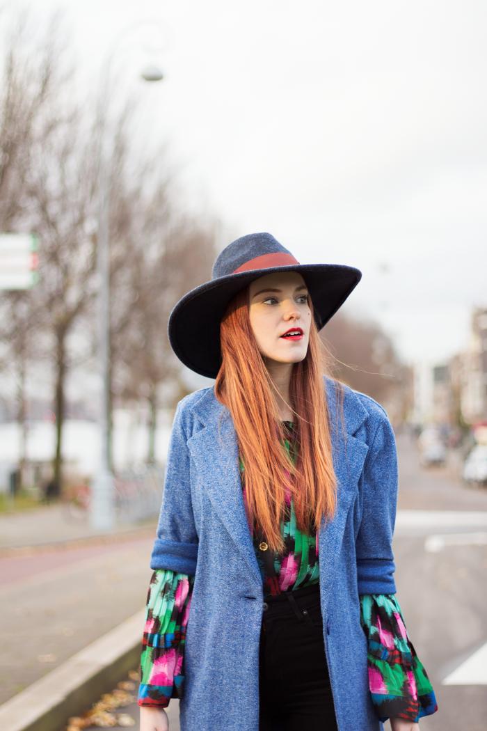 1aba3e5c5b82 Retro Sonja Fashion Blogger Outfit Kenzo x H&M Colorful Stylist Hat Dutch  Amsterdam